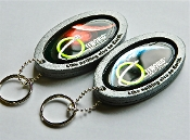 Offworld™ Earth and Mars badge keychains